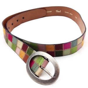 Fossil Multicolored Leather Belt -N394 @